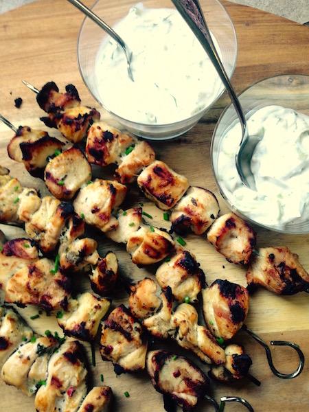 Succulent Chicken Souvlaki with Paleo Tzatziki