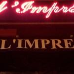 L'Imprévu bar