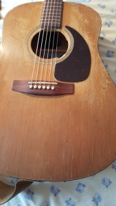 repaired guitar right side