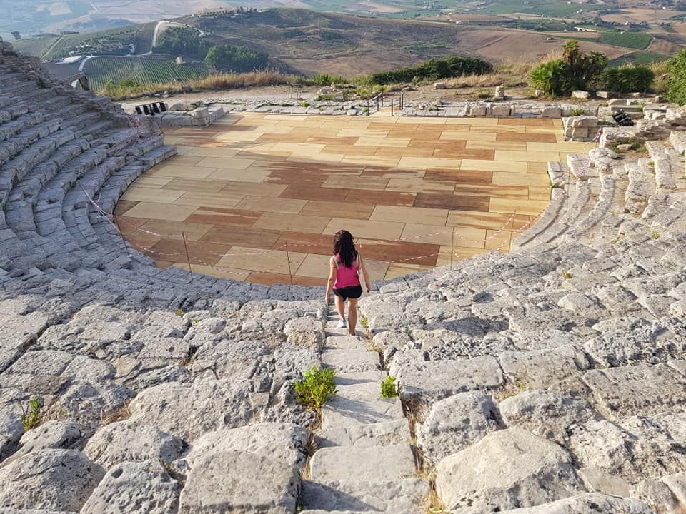 Ornella Bonventre at the Greek Theater in Segesta, Sicily