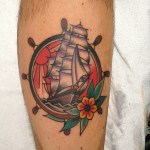 Ship Wheel Tattoo