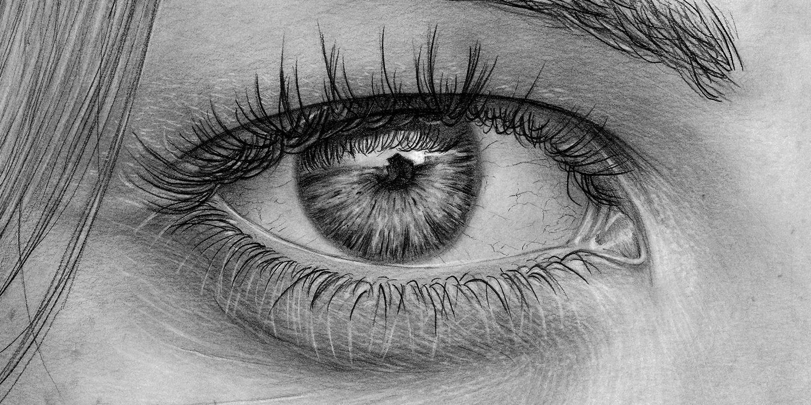 Cloe up eye drawing by Brad Thingvold