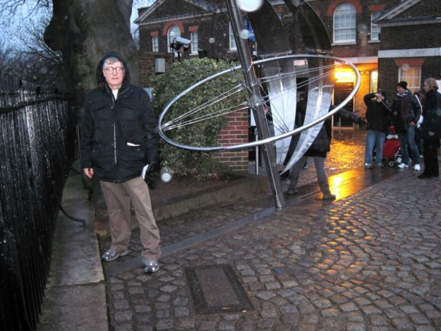 That's me, standing astride the prime meridian at Greenwich in 2011.