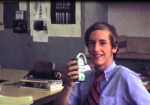 From the video: The future founder of the UnParty enjoys an Uncola, in 1971.