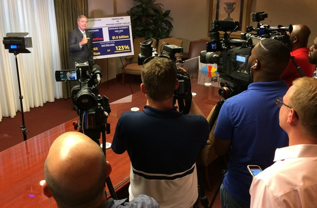Graham pushing his healthcare plan in Columbia today.