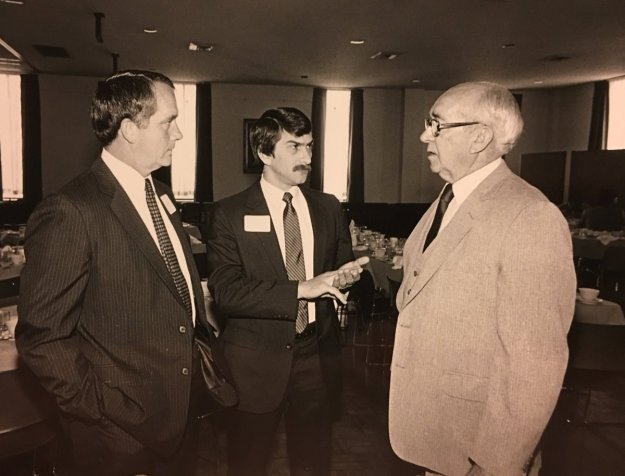 That's Mr. Ed Jones on the right, and Kelly Sharbel in the middle. I'm probably somewhere nearby....