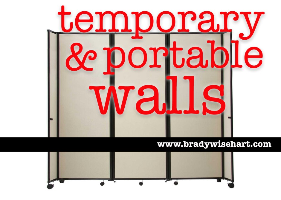 temporary & portable walls