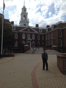 Here I am in front of Legislative Hall