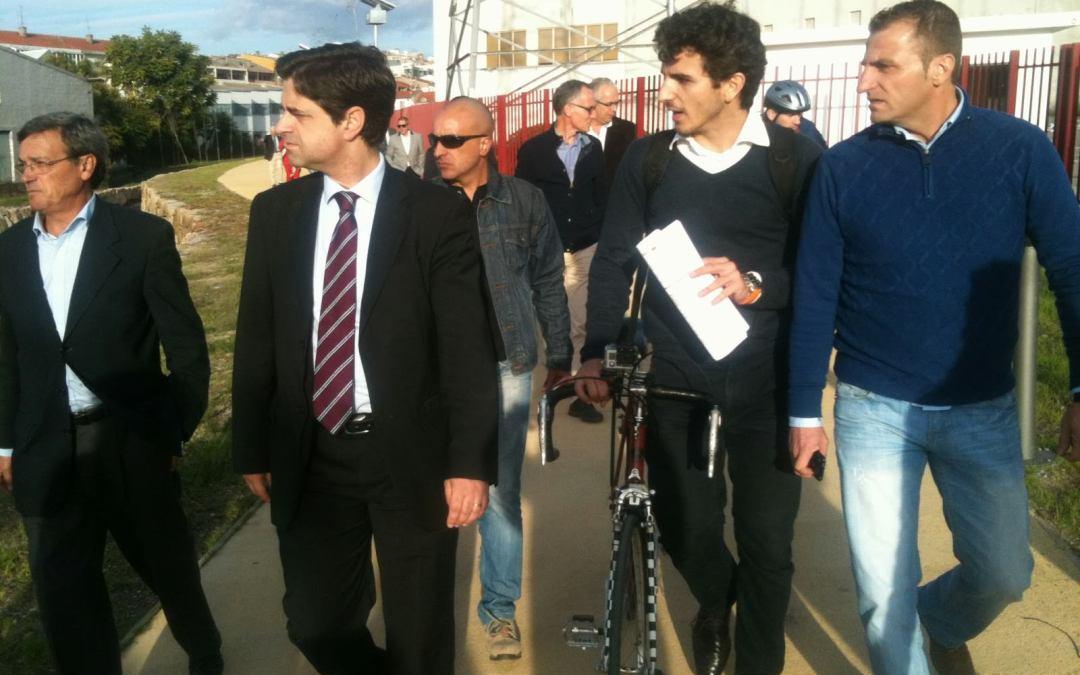Via Pedonal Ciclável do Rio Este – Visita com o executivo da CMB