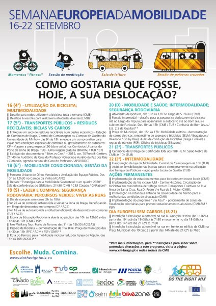 Cartaz Braga Semana Mobilidade 2015