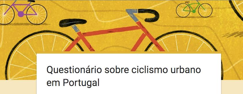 Participem neste Questionário sobre ciclismo urbano em Portugal