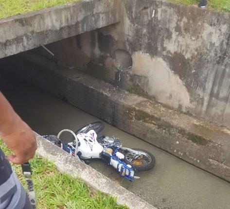 caiu com moto no Ribeirão