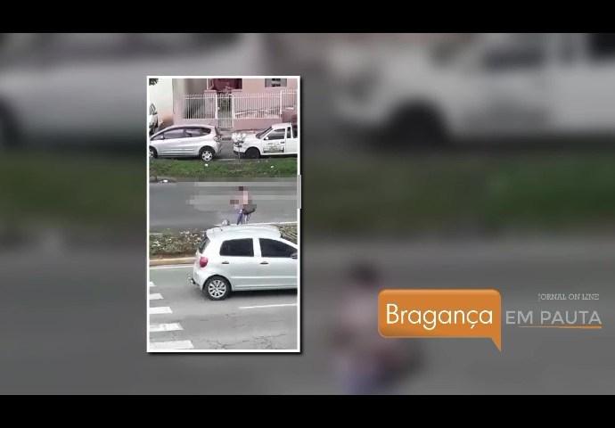 Vídeo mostra mulher furtando mudas de canteiro da Imigrantes