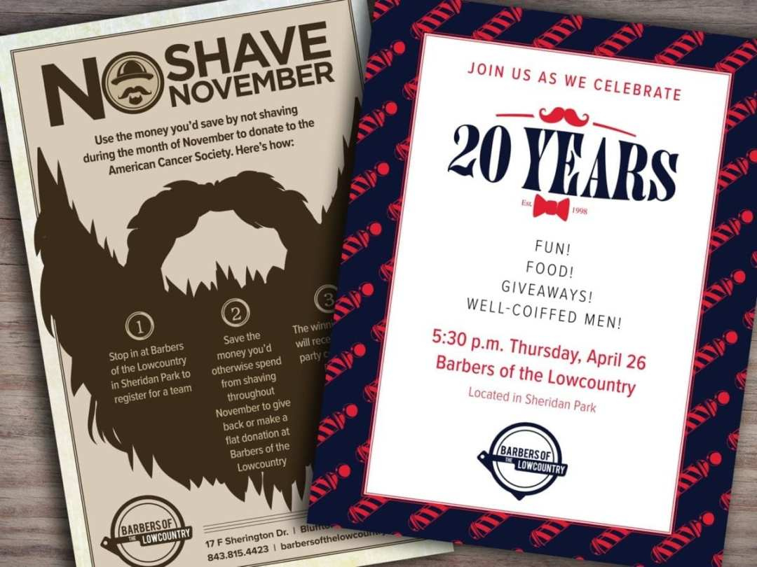 Barbers of the Lowcountry poster and flier