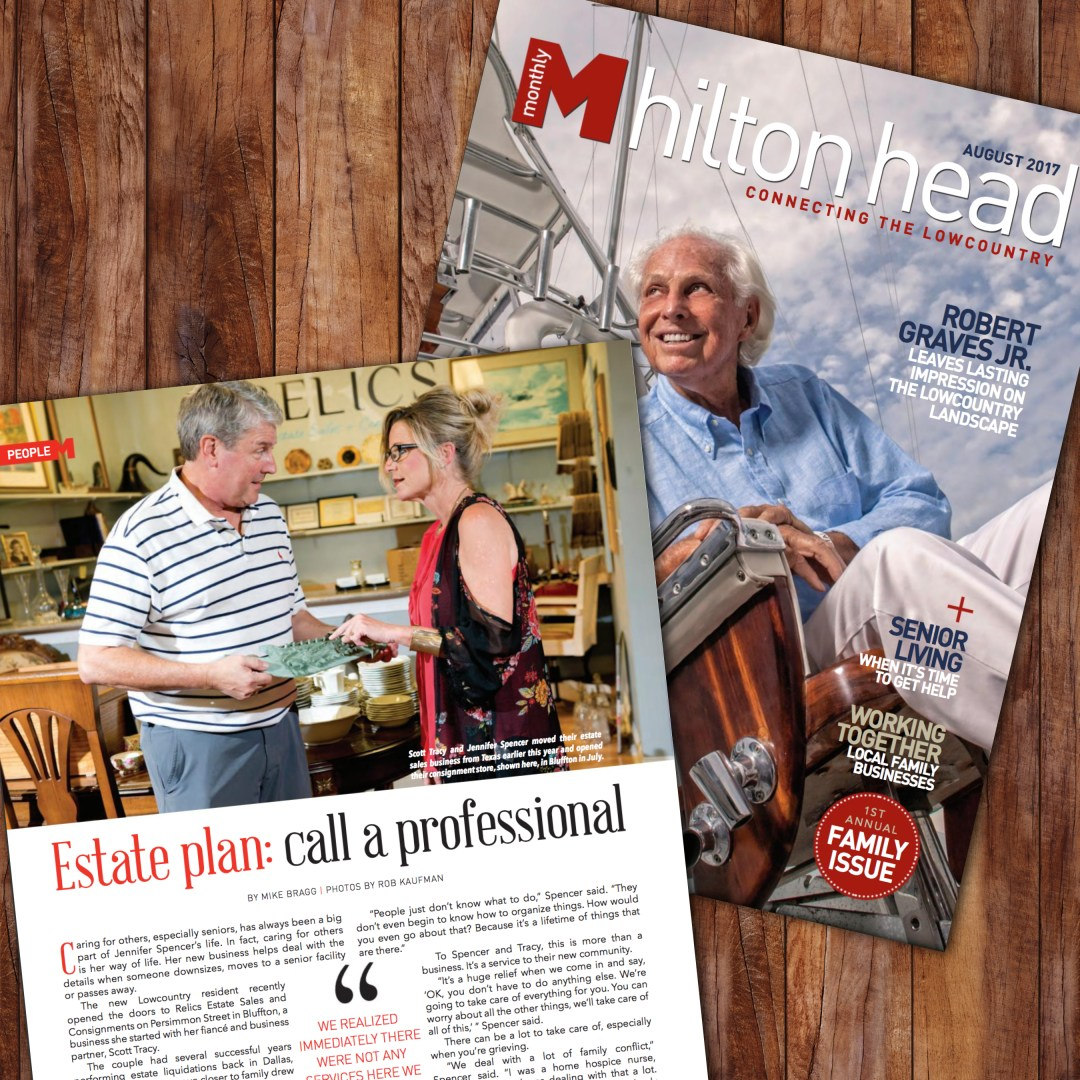 Hilton Head Monthly feature on Relics Estate Sales
