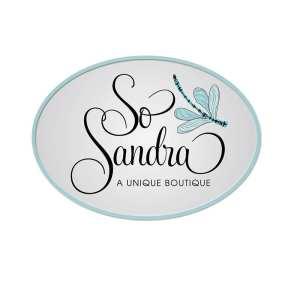 Logo for So Sandra fashion boutique on Hilton Head Island