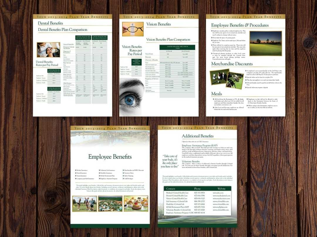 Employee Benefits Package for a Golf Course Management Company