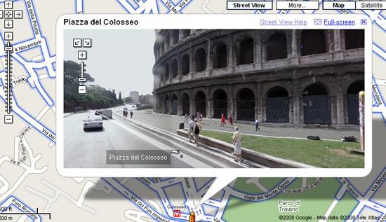 Quello che si vede con Google Street View