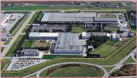 Panoramica dello stabilimento Honda Italia di Atessa