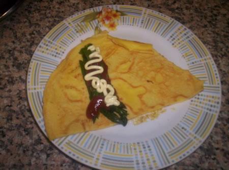 Crespella asparagi, maionese e ketchup