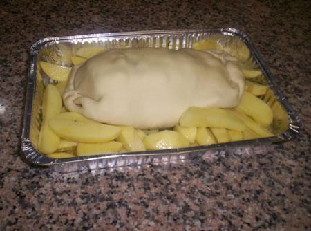 Il filetto pronto per essere infornato