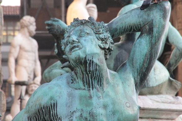 Satyre de la fontaine de Neptune, Florence, photo Serge Briez