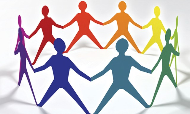 people team in circle chain