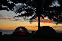 Beach camping at its best in Tinalisayan Maliit Island