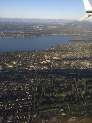 Descent into SeaTac (Lake Washington at the top)