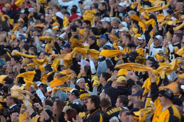 """Source: """"Pittsburgh Steeler fans 15 Oct 2006"""". Licensed under CC BY 2.0 via Wikimedia Commons -"""