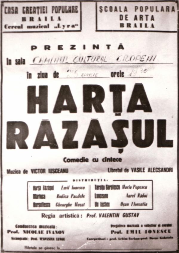 Afisul operei Harta Razasul