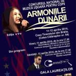 """Premiantii Concursului National de Muzica Usoara """"Armoniile Dunarii"""""""