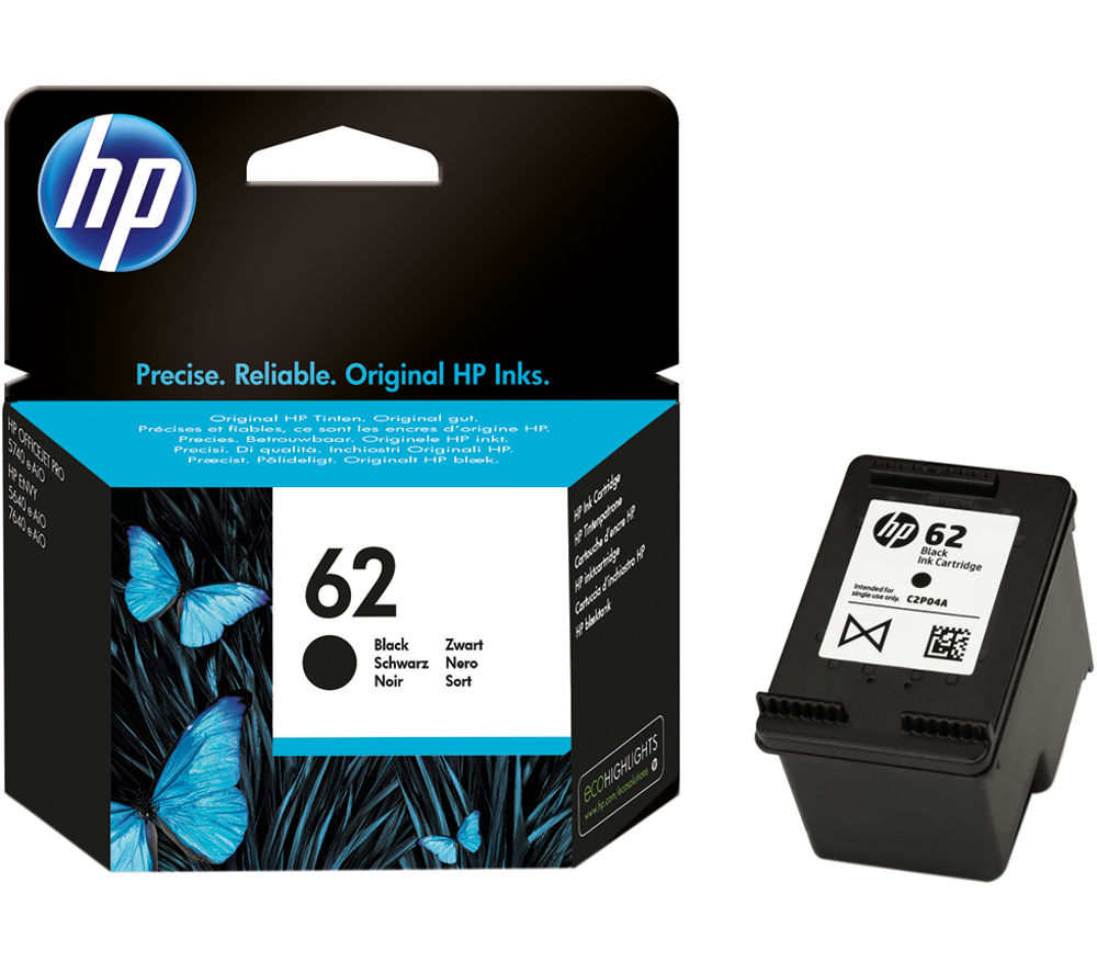 Buy Hp 62 Black Ink Cartridge Free Delivery Currys