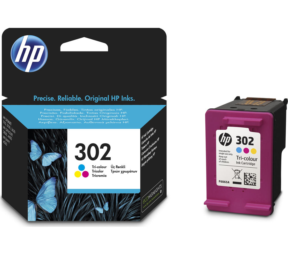Buy Hp 302 Tri Colour Ink Cartridge Free Delivery Currys