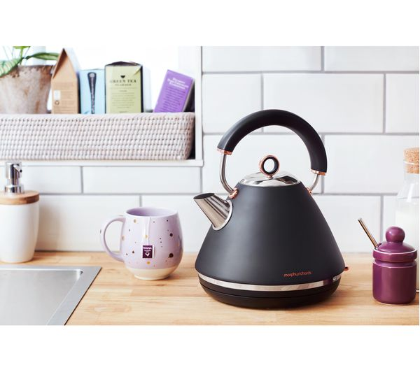 Buy MORPHY RICHARDS Accents 102104 Traditional Kettle Black Amp Rose Gold Free Delivery Currys