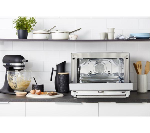 kmqfx 33910 combination microwave silver black