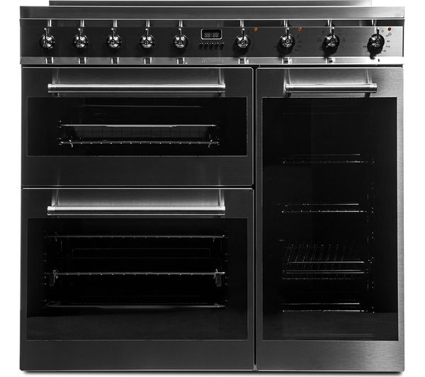 symphony sy93i 90 cm electric induction range cooker stainless steel
