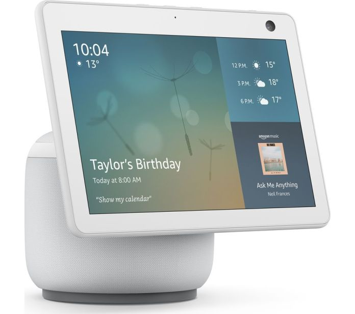 Buy Amazon Echo Show 10 3rd Gen Smart Display With Alexa White Free Delivery Currys