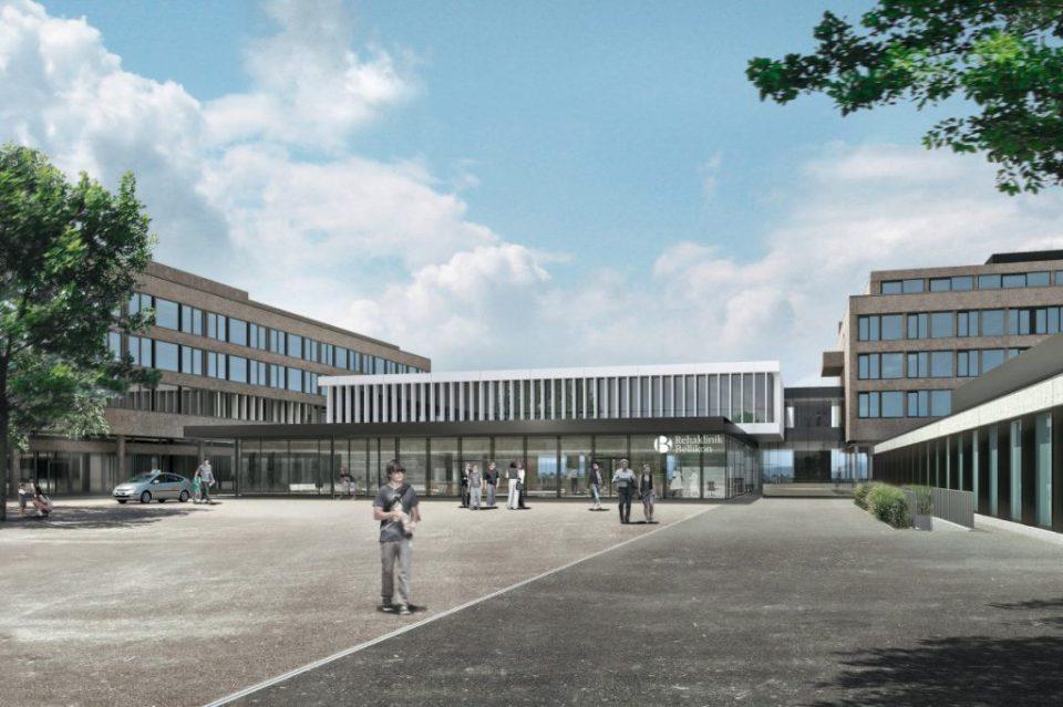 Neu gestalteter Eingangsbereich der Rehaklinik Bellikon