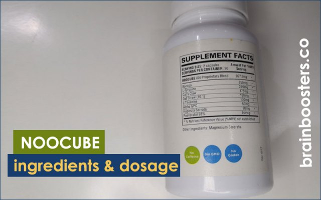 Noocube ingredients and Dosage