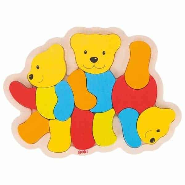 Einlegepuzzle Drei Bären