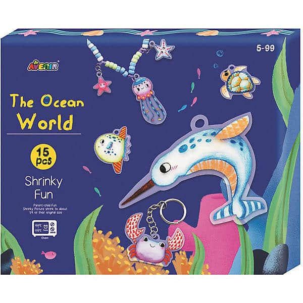 Craft Kit Shrinky Fun Ocean World