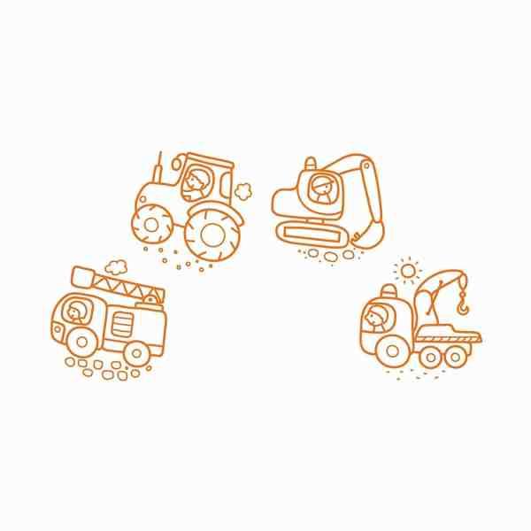Stampo Baby Baumaschinen