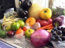 Veggies and fruit from Klippers CSA