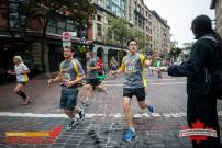 The course wound through the cobblestone streets of Gastown. Photo courtesy Canadian Running Series.