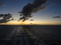 Sunset from aft deck