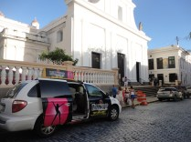 Cathedral... with strip club taxi outside