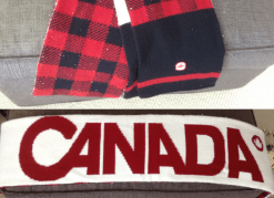 Team Canada plaid scarf from Vancouver 2010