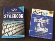 Reference Books: Canadian Press Stylebook, and Start Your Own Retail Business