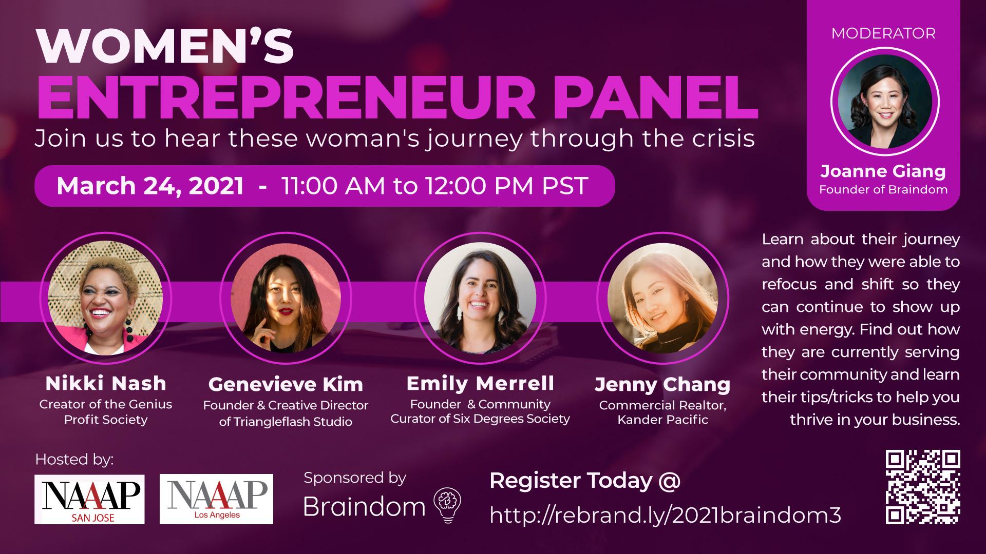 March Webinar about Four Women Entreprenuers